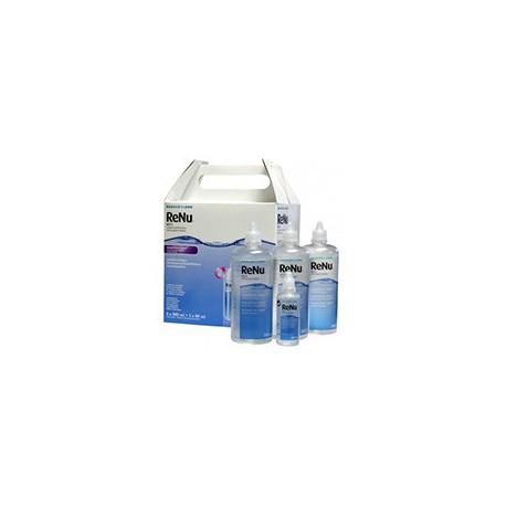 Renu Fresh Pack 3x360 ml + 1x60 ml + 4 étuis