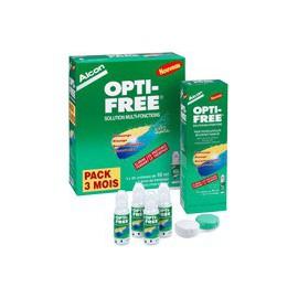 Opti-Free Unidoses 90 UD de 10ml + 3 étuis
